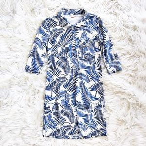 Persifor fern print jersey shirtdress
